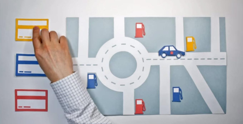 Объясняющий ролик в формате stop motion для «Benzindex» (бренд - ТОПКАРТА)
