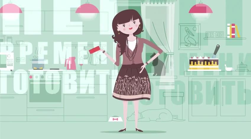 Объясняющий ролик в формате 2D анимации для сервиса здорового питания EasyMeal
